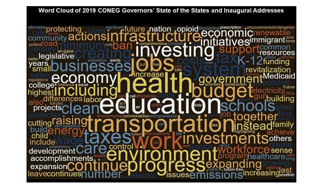 CONEG Governors Deliver Their Inaugural & State of the State Addresses